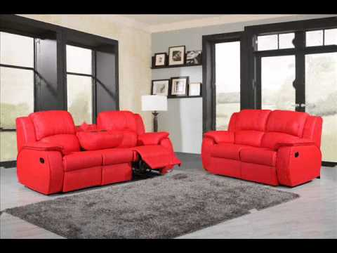 Clic Milano Leather Recliner Sofa Set 3 2 Seater