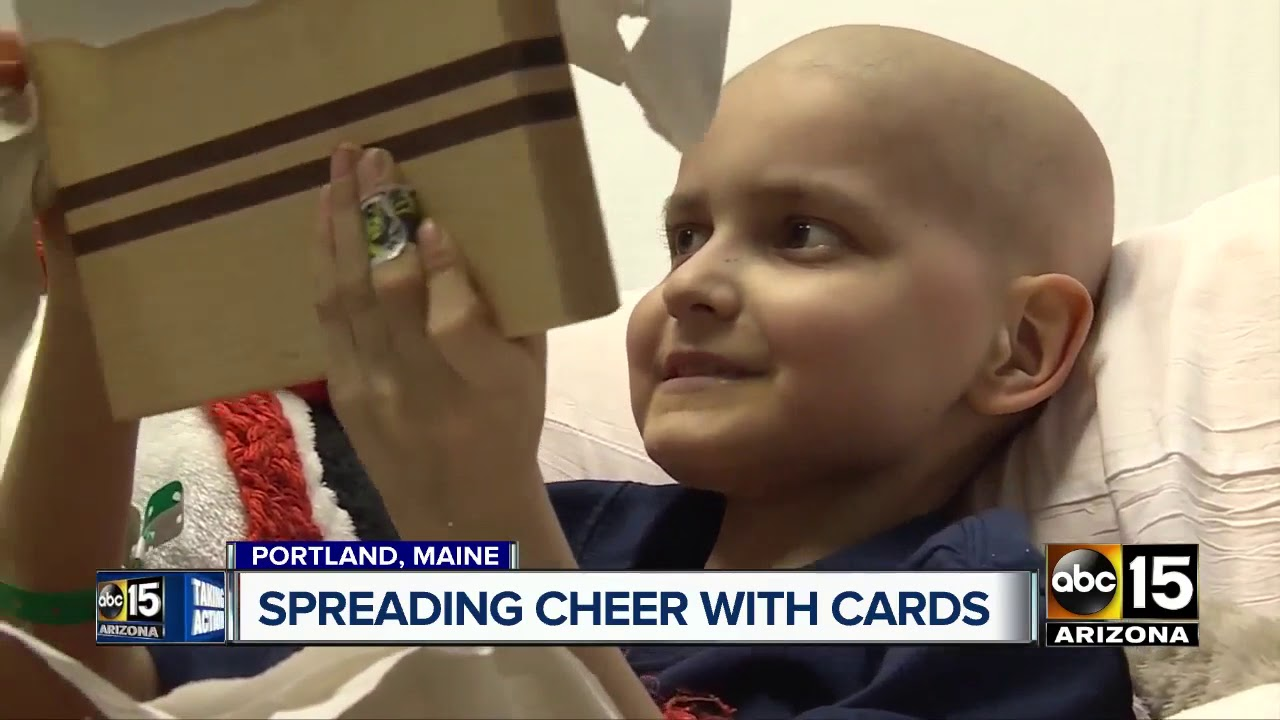 Boy with terminal cancer asking for Christmas cards - YouTube