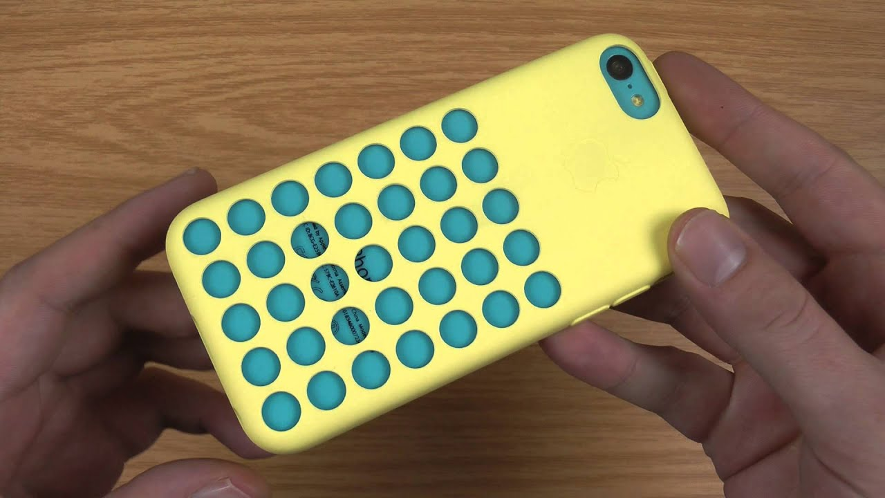 Official Apple iPhone 5C Case Review - Yellow - YouTube