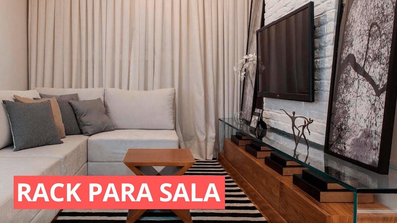 RACK PARA SALA DE TV COMO FAZER PARA DECORAR YouTube -> Decoração Rack Para Sala Pequena