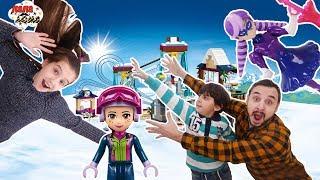 Папа Роб, Ярик и Лера собирают горнолыжный курорт LEGO FRIENDS Часть 2.