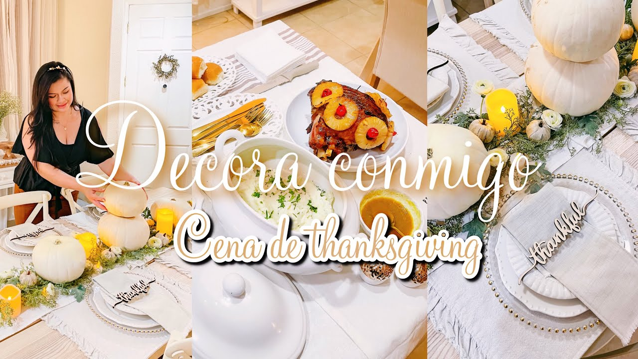 Thanksgiving / ideas de decoración para la cena de thanksgiving fall decor #homedecor  🍂