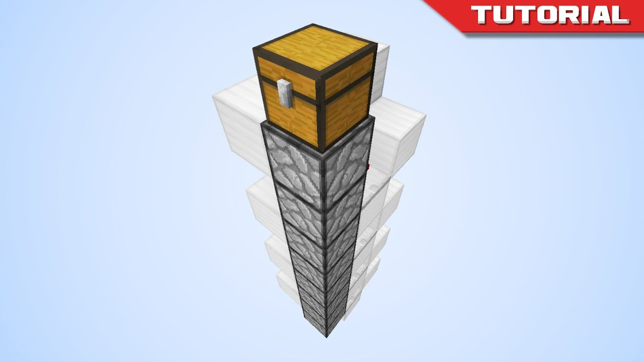 Quick And Easy Minecraft Item Elevators Youtube Basics Clock Circuits Arrow Launcher 1 Redstone