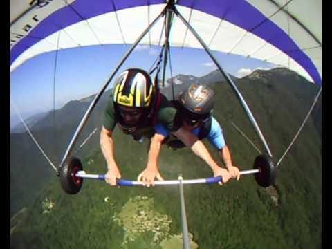 Volo Libero In Deltaplano Biposto Lago Di Garda. Hang Gliding Tandem Fly Garda Lake - 005