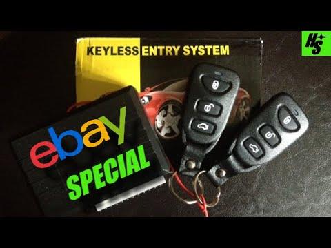 240SX Installing EBAY Keyless Entry How To - YouTube