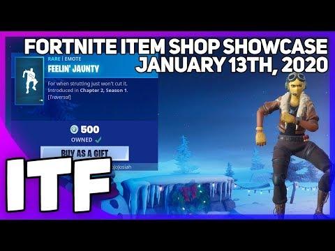 Fortnite Item Shop FEELIN' JAUNTY IS BACK! [January 13th, 2020] (Fortnite Battle Royale)