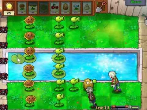 Plants vs zombies (Trồng cây bắn zombie) - Cấp độ 3-2 (Game Việt Hóa)