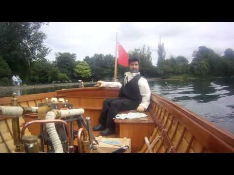 Onboard Martha model steam launch