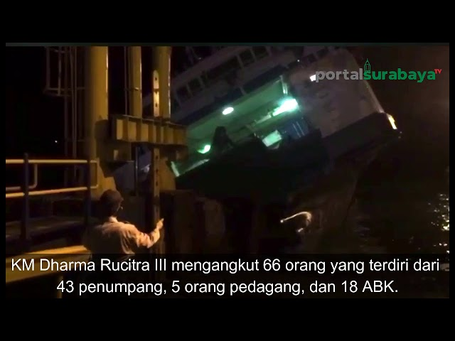 Video Detik Detik KM Dharma Rucitra III Tenggelam di Pelabuhan Padangbai Bali!