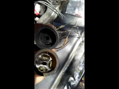 Oil pressure switch wire install