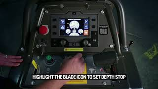How to calibrate depth and set depth stop on your Husqvarna FS 5000 D and FS 7000 D/DL