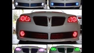 2009 Pontiac G8 GT with Oracle Colorshift 2.0 Halos