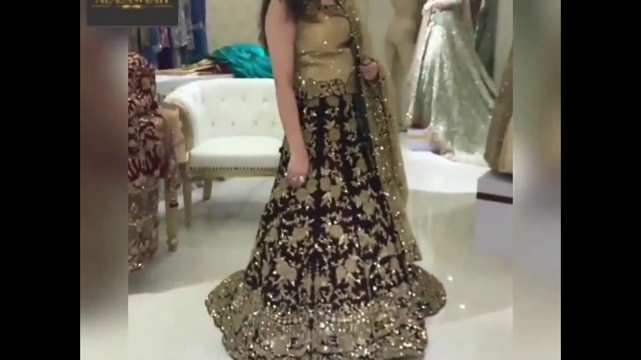 Alzawiah Designer Pakistani Wedding Black dress 👗Gown, Lehenga, suit