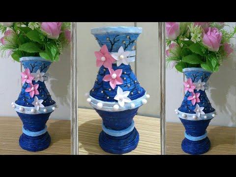 Diy Ii Amazing Newspaper Flower Vase Pot Design 2 Ii Newspaper