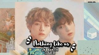 "Gambar cover BTS (방탄소년단) JungKooK ft. V ""Nothing Like Us"" (COVER)"