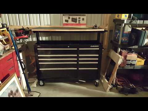 Husky 52 Inch Adjustable Top Mobile Workbench Toolbox Review