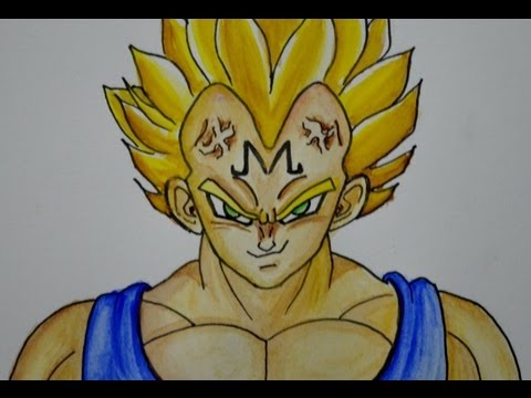 COMO DIBUJAR A VEGETA Majin de Dragon ball  YouTube