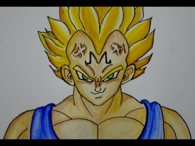 COMO DIBUJAR A VEGETA (Majin, de Dragon ball) Videos De Viajes