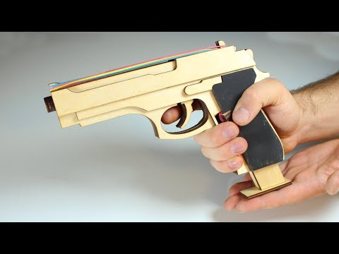 HOW TO MAKE A REAL M9 RUBBER BAND GUN