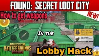 How to get weapons in lobby || PUBG MOBILE || Playersunkownbattlegrounds