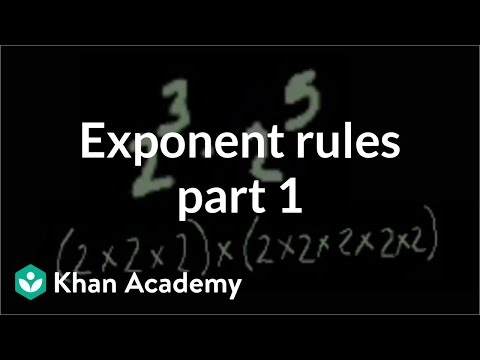 Exponent rules part 1 | Exponents, radicals, and scientific notation | Pre-Algebra | Khan Academy