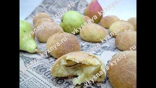 Булочки на кефире с грушами - быстрая, вкусная домашняя выпечка из которой начинка не вытекает!