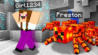 12 Ways To PRANK Noob1234's Girlfriend With MOBS! ( Preston Minecraft)