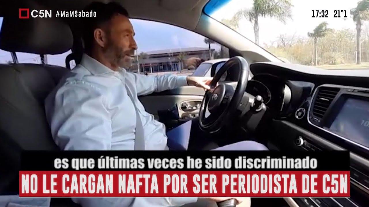 No le quieren cargar nafta por ser periodista de C5N: el testimonio de Juan Enrique