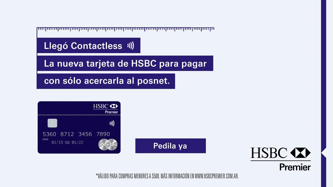 LLEGÓ CONTACTLESS – LA NUEVA TARJETA MASTERCARD DE HSBC PREMIER