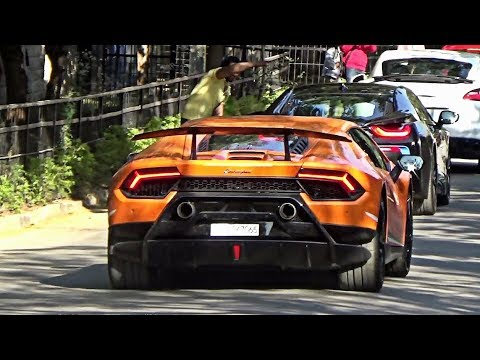 40+ Supercars Leaving Car Meet - SUPERCARS IN INDIA (Hyderabad)