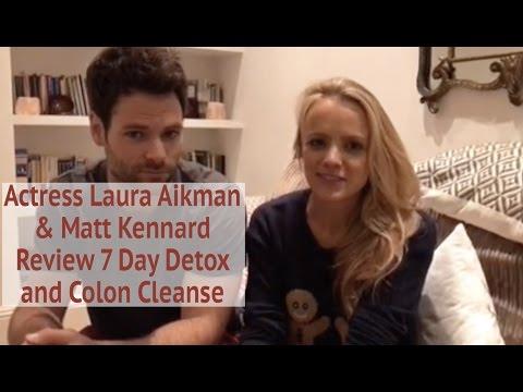 Actress Laura Aikman & Matt Kennard  Om Detox 7 Day Fast