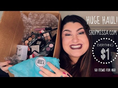 HUGE!! SHOP MISS A UNBOXING HAUL! EVERYTHING $1 | 50 ITEMS FOR $50 | 2016