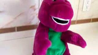 Barney Doll Sings I Love You, You Love Me
