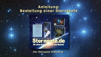 Wie bestelle ich eine Sterntaufe?  Anleitung zum Sterne taufen bei Sternpate.de