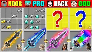 Minecraft NOOB vs PRO vs HACKER vs GOD SUPER SWORD CRAFTING SCARY WHEEL PORTAL CHALLENGE Animation