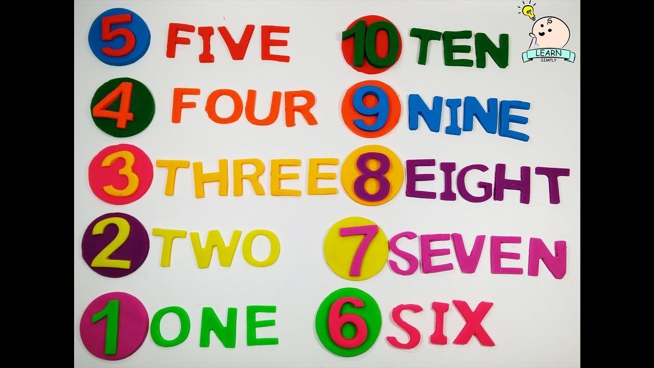 Learn Numbers With Play Doh