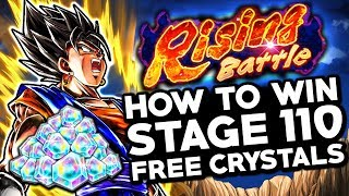NEW FREE CRYSTALS! How To Beat Vegito LVL 4500! Dragon Ball Legends Vegito Rising Battle Stage 110