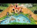 - Rescue Abandoned Puppies Build Underground House For Dog And Fish Pond Around House Puppy