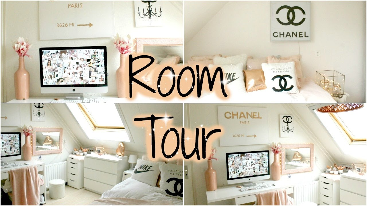 My Room Tour Rose Gold Chanel Demiana Acis Youtube