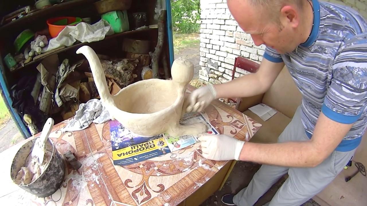 Gomba készítése gipszből
