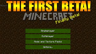 ★Minecraft Gameplay From 2011/2012 - The First BETA Versions + Mods & Texture Packs★