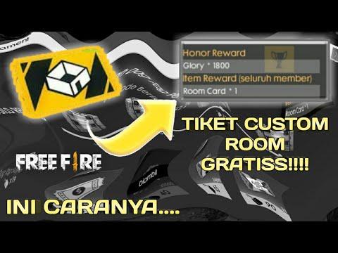 MANTAP!! CARA MENDAPATKAN TIKET CUSTOM ROOM DI FREE FIRE!! - Garena Free Fire Indonesia - 동영상