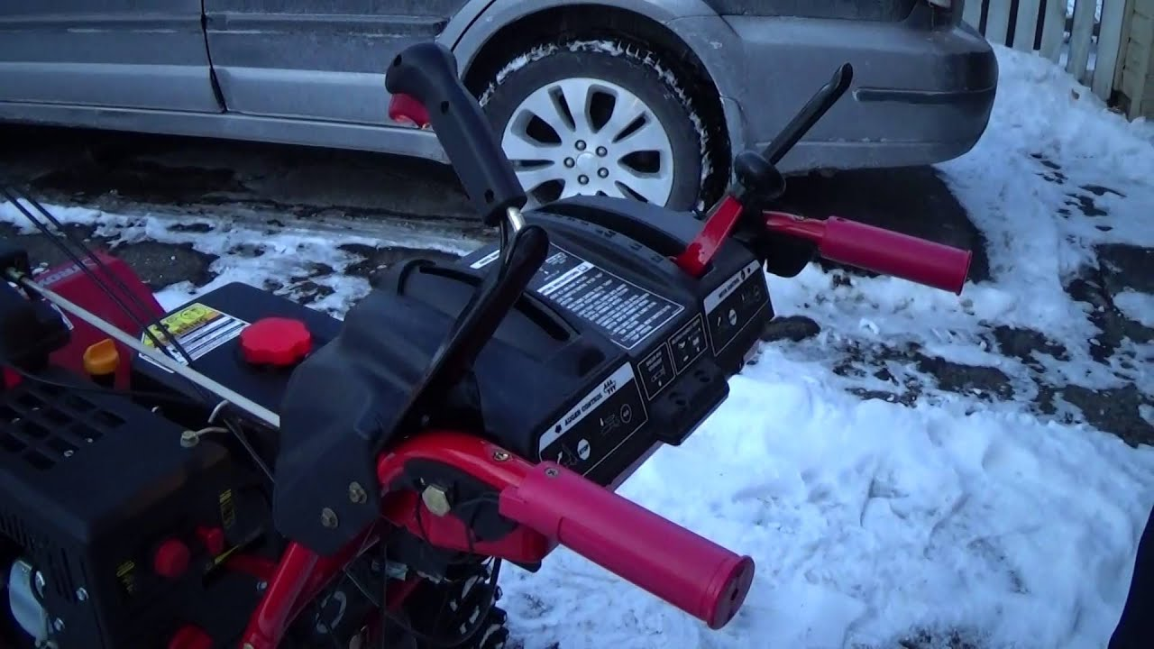 Tutorial  Starting the Troy-Bilt snow blower
