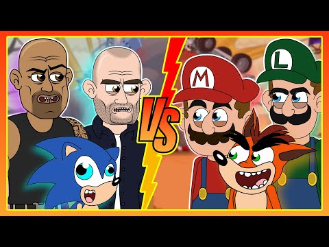 Fast And Furious X Mario & Luigi W/ Crash Bandicoot & Sonic (Parody Animation)