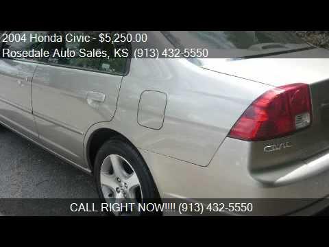 2004 Honda Civic EX sedan for sale in Kansas City, KS 66103