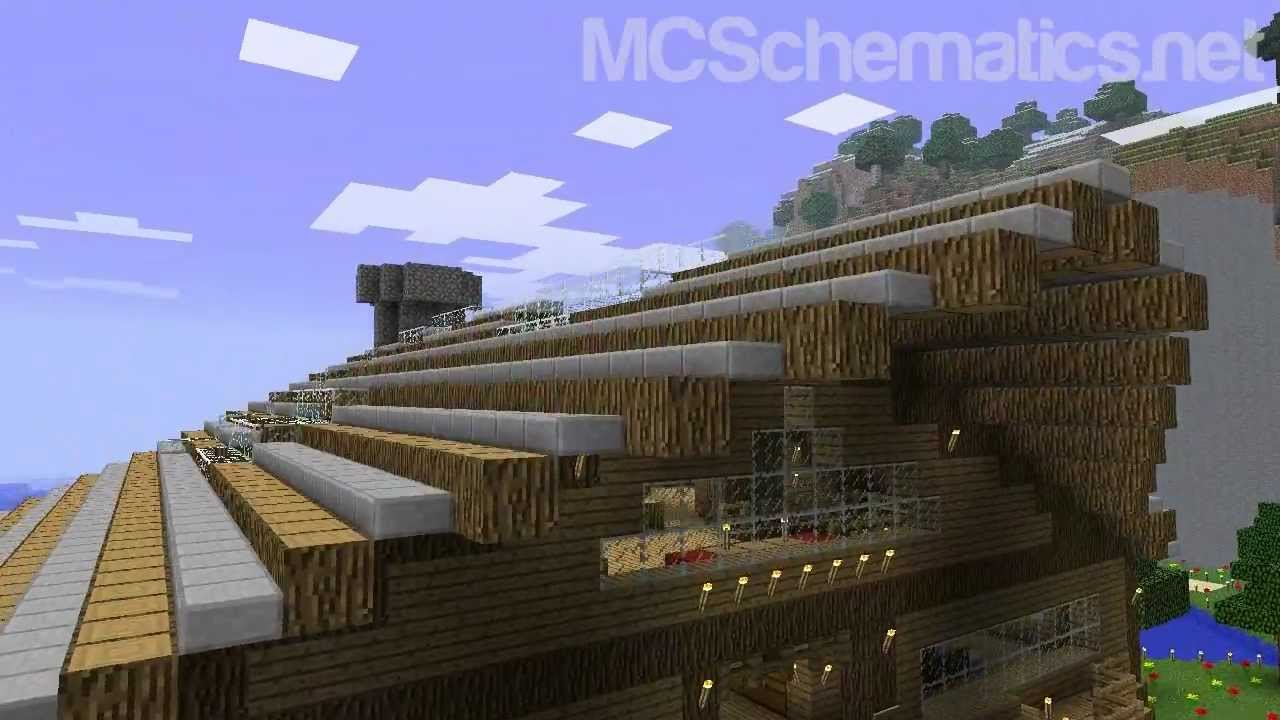 Minecraft Schematic Huge Wooden House Download