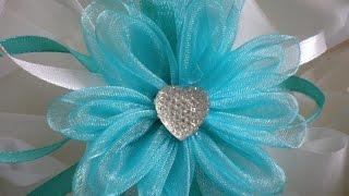 Цветы из лент  своими руками. / DIY Flowers Wedding(Приветствую Вас на моем канале! С Вами Маргарита и новый мастер класс, как сделать Цветок из органзы своими..., 2015-10-20T13:55:14.000Z)
