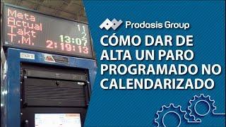 Cómo dar de alta un paro programado no calendarizado