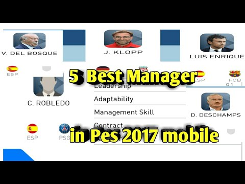 Top 5 manager with 4-3-3 formation pes 2017 mobile