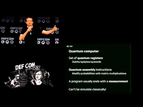 DEF CON 23 -  Jean Philippe Aumasson - Quantum Computers vs Computers Security